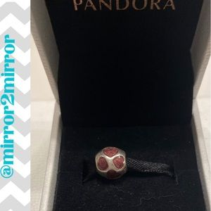 🎄Auth. Pandora Silver with Purple Hearts charm